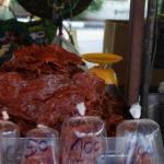 viande séchée - étal de marché en Thaïlande