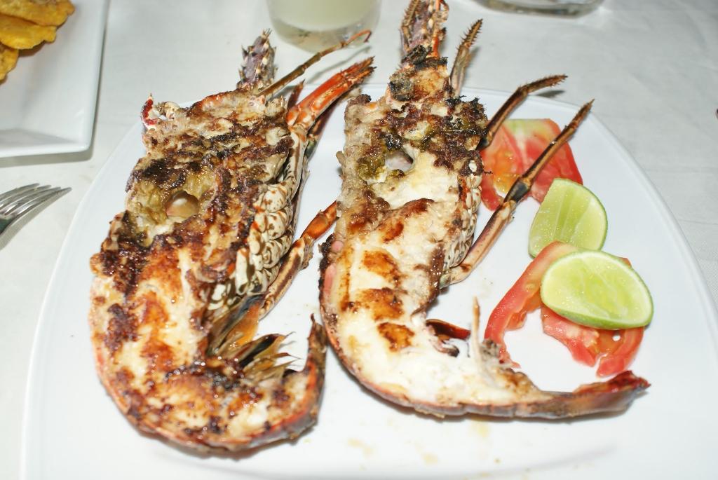 Balico co langouste grill es bayahibe en r publique dominicaine ti punch ste anne en - Recettes de langoustes grillees ...