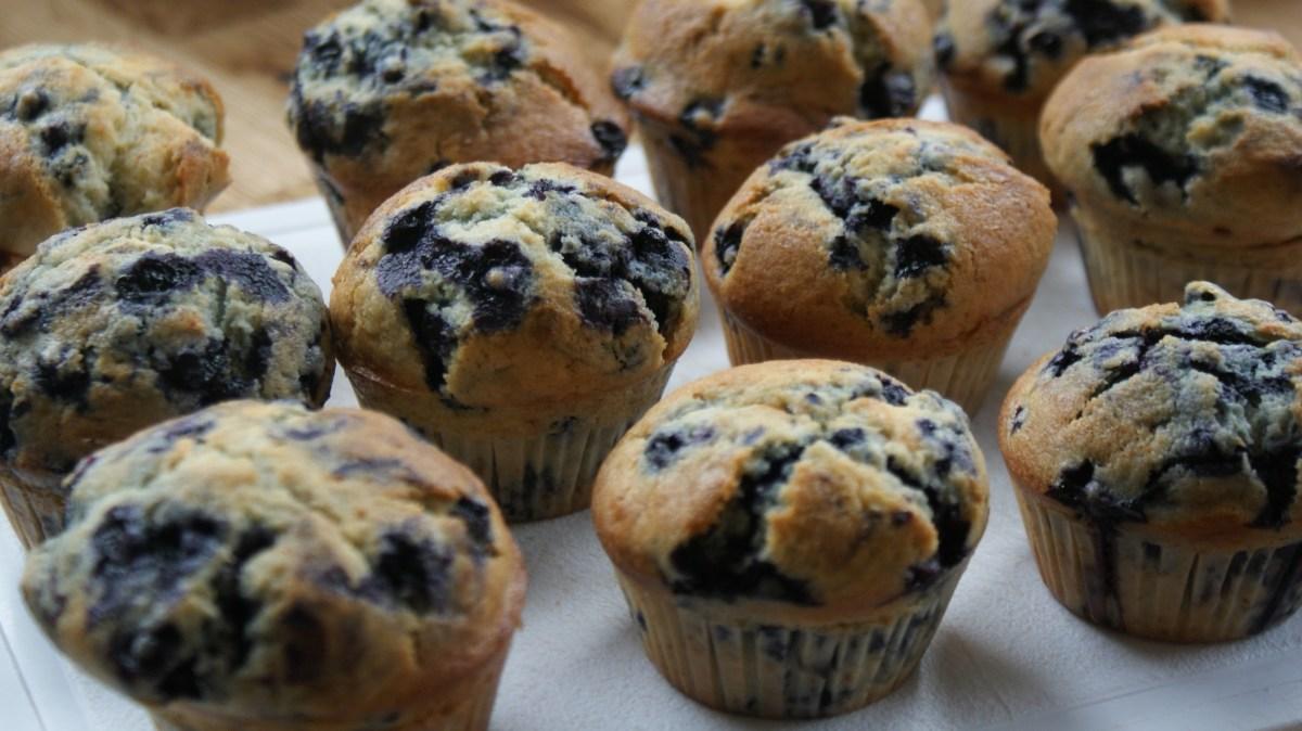 Muffins moelleux aux myrtilles
