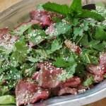 Salade de boeuf nua yam tok - cuisine thaï © par Fanny GRW - Recettes d'ici et d'ailleurs