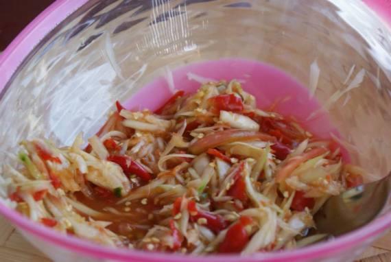 salade de papaye verte Som Tam - cuisine thaï © par Fanny GRW - Recettes d'ici et d'ailleurs