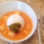 Curry thaï rouge de St Jacques et poisson - Cuisine thaï © Recettes d'ici et d'ailleurs