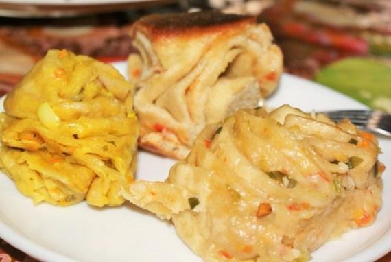 Pain tibétain fourré aux légumes Special breads  - Cuisine tibétaine © Recettes d'ici et d'ailleurs