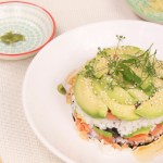 Sushi Millefeuille Saumon Avocat - Recette japonaise © Balico & co