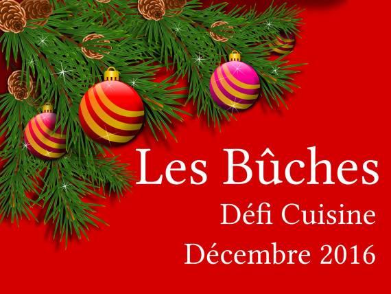Défi cuisine de décembre 2016 - Les Bûches sur Recettes.de