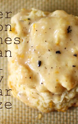 meyer lemon scones with an earl grey sugar glaze