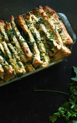 Artichoke Pull-Apart Bread with spring herbs