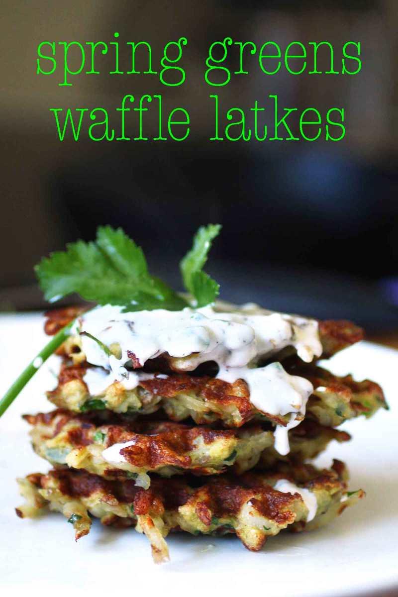 Spring Greens Waffle Latkes