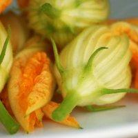 Deep Fried Stuffed Squash Blossoms