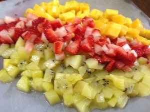 fruits for filling diced