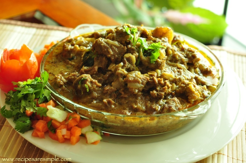 mutton curry with coconut milk stew