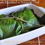 fish roasted in banana leaf