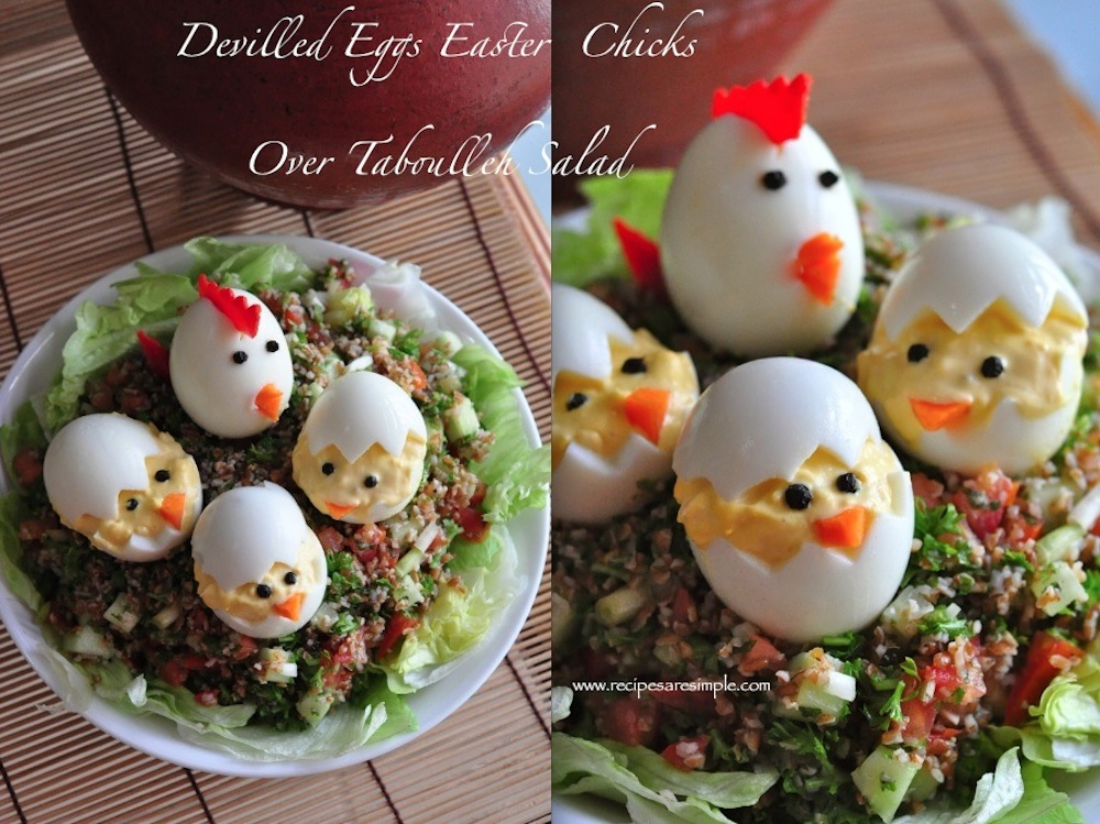 Devilled Eggs Easter Egg Chicks