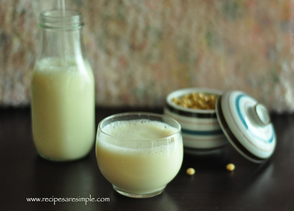 soy milk recipe steps