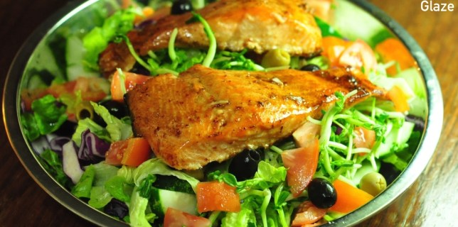 baked salmon with balsamic honey glaze