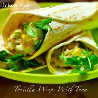 tortilla wraps with tuna