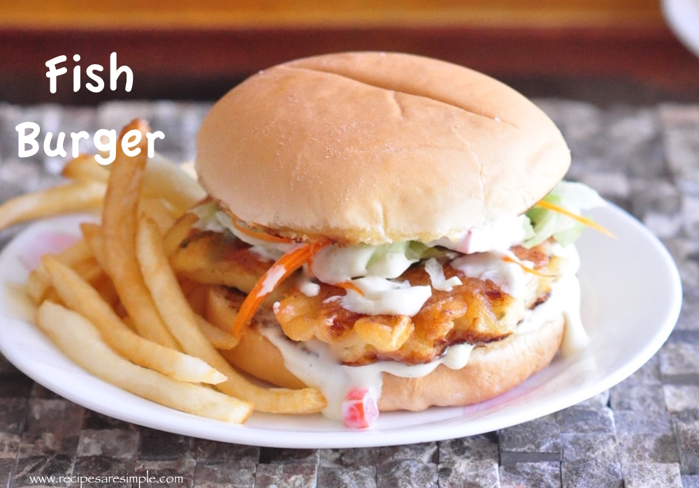 Fish burger with home made tartar sauce recipes 39 r 39 simple for Fish burger recipe