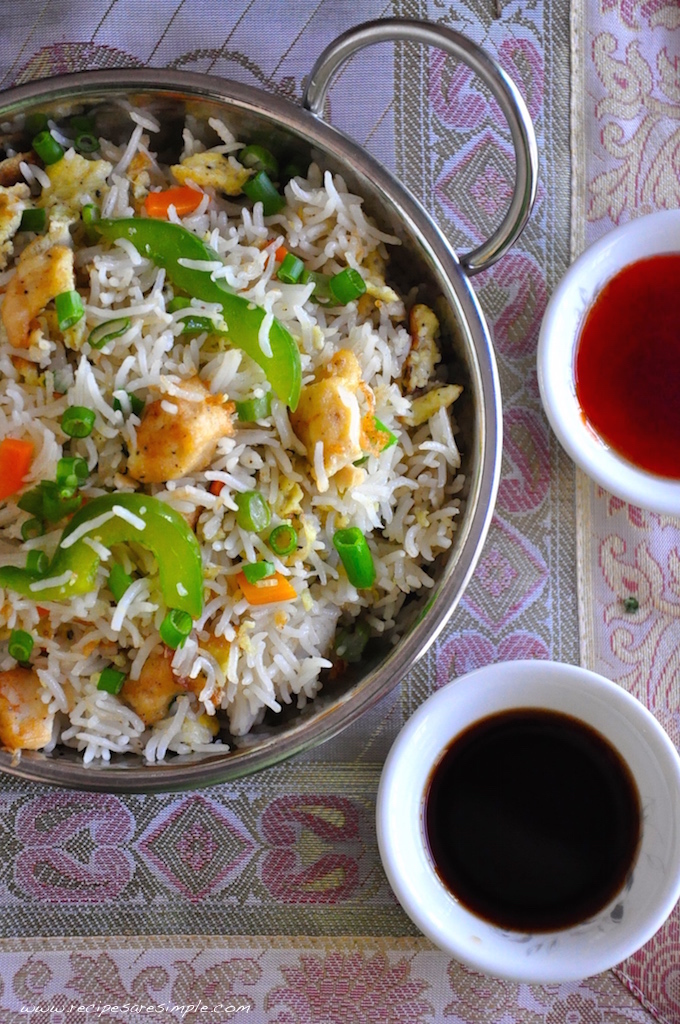recipe - Indo Chinese Chicken Fried Rice