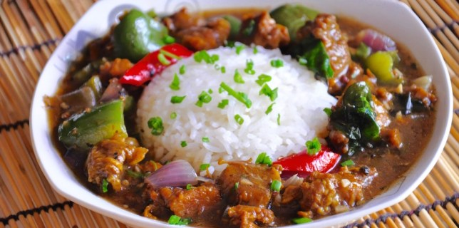 Asian Black Pepper Beef with Curry Leaves Recipe
