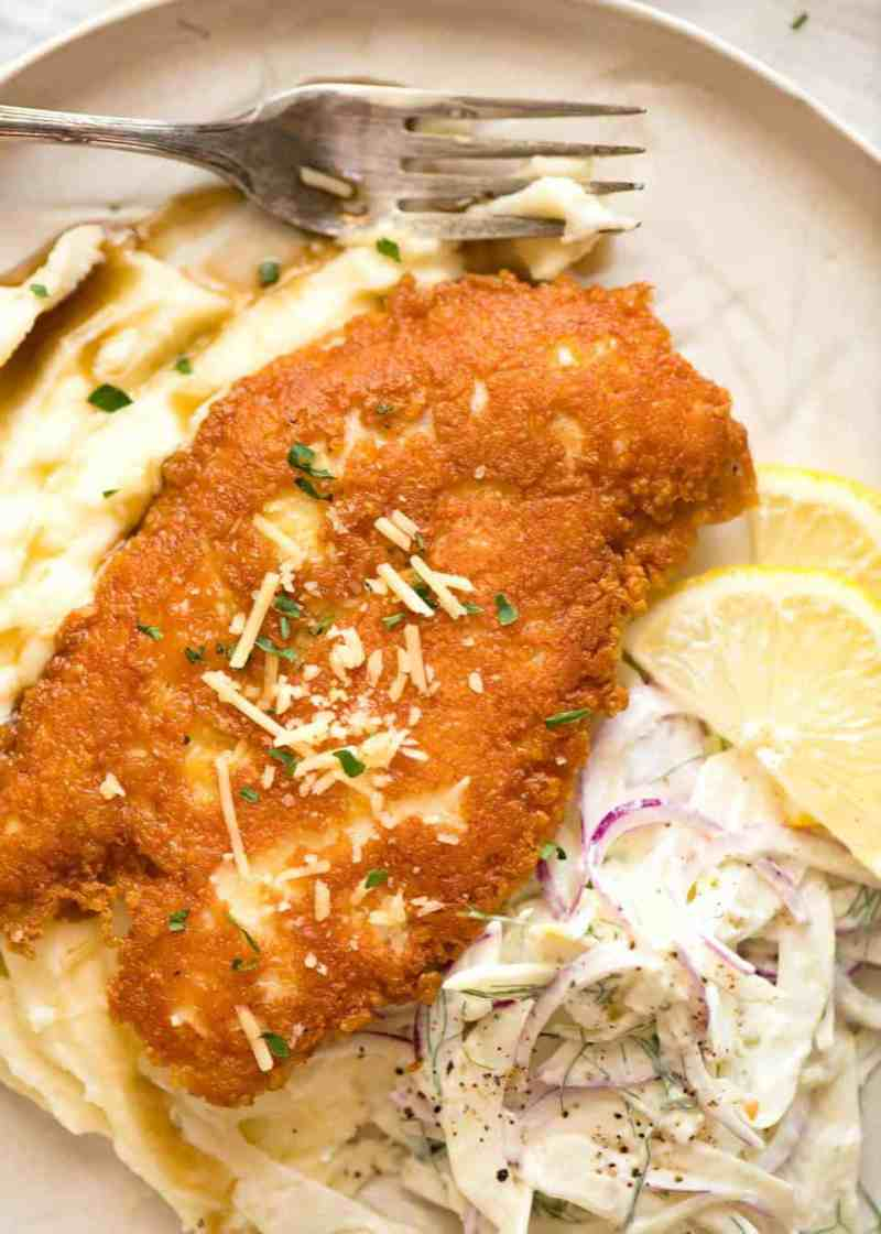 Large Of Baked Parmesan Crusted Chicken