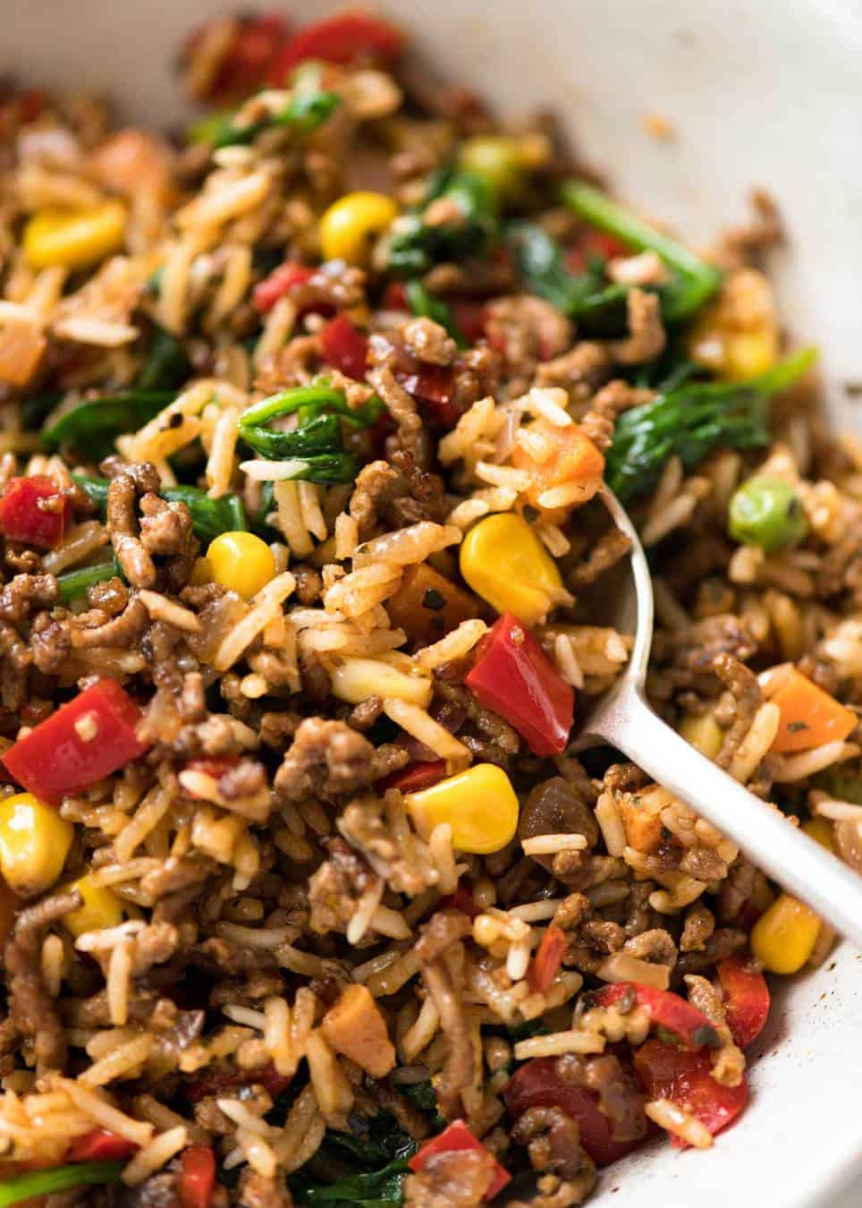 Fullsize Of Ground Beef And Rice Recipes Skillet