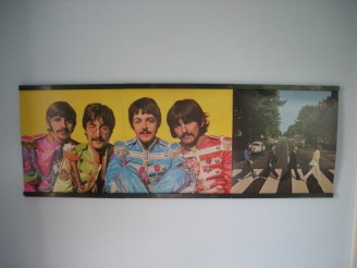 Beatles gatefold record display