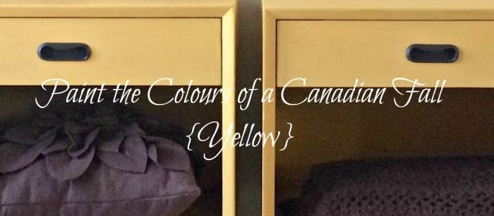 Paint the Colours of a Canadian Fall {Yellow}