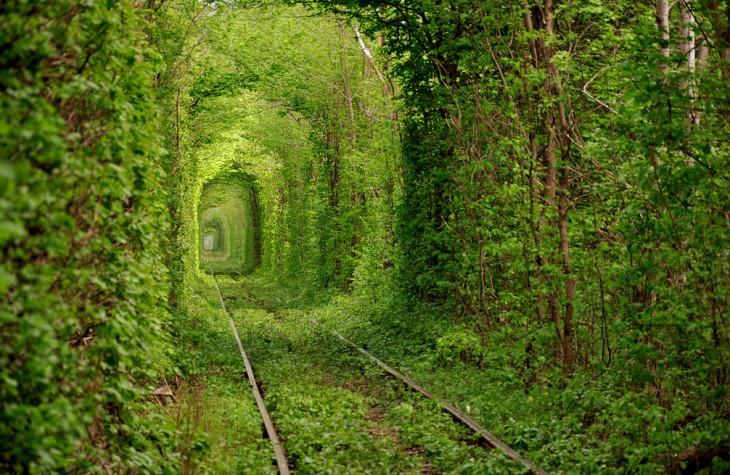 Tunel Miłości w Klevan, Ukraina