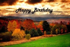 Happy Birthday Fall Foilage