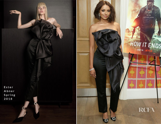 Kat Graham In Ester Abner    How It Ends  New York Screening   Red     Kat Graham In Ester Abner      How It Ends  New York Screening