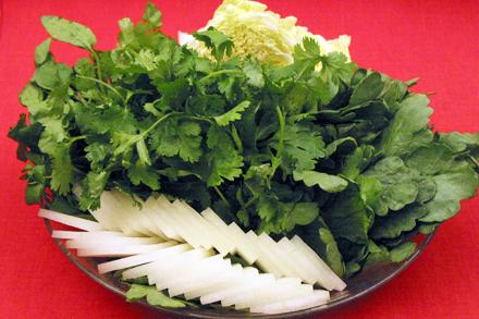 Vegetables Platter for Hot Pot