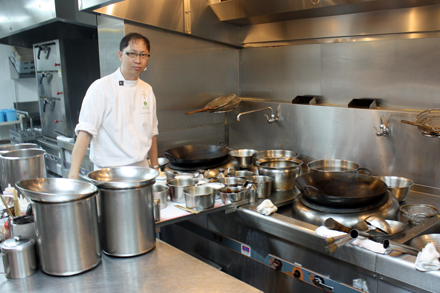 Chef Yong in the Majestic Restaurant Kitchen