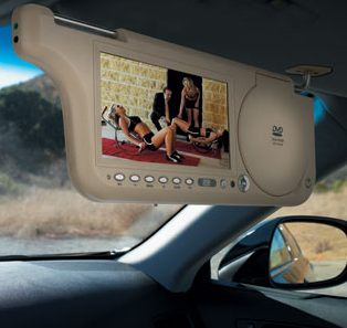 sunvisordvdplayer Sun Visor TV/DVD Player   mobile home theater