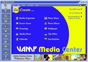 vampmediacenter small Vamp Media Center   organise your multimedia for free