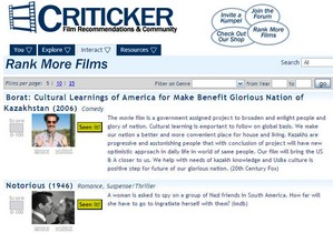 criticker small Criticker   work out which film critic you can trust