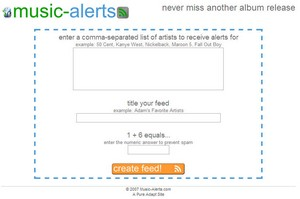 musicalerts small Music Alerts   never miss another album release again...