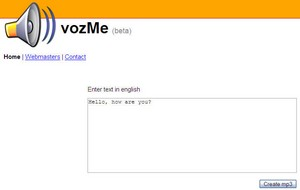 vozme small VozMe   superb free online tool converts text to MP3 audio