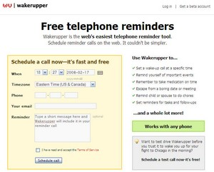 wakerupper small Wakerupper   cool online telephone reminder tool