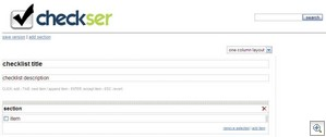 checkser3 thumb Checkser   the to do list wiki that lets you find and build online checklists