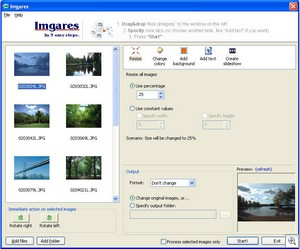 imgares thumb Imgares   cool free image processor is fast, versatile and useful
