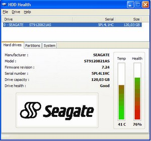 hddhealth small HDD Health   keep tabs on your computers hard disk health