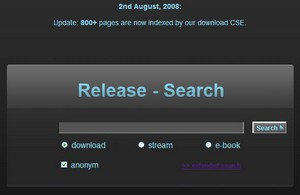 releasesearch small ReleaseSearch   another search engine for unconventional Google stuff