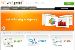 widgenie small Widgenie   smart, gorgeous data visualisation tool comes online