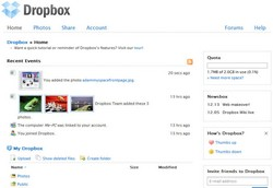 dropbox3 small Dropbox   synch your files across Mac, Linux, PC and Web