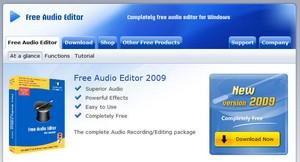 freeaudioeditor small Free Audio Editor 2009   a freeware audio...er...editor