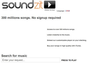 soundzit small Soundzit   300 million songs, instantly, no sign up...