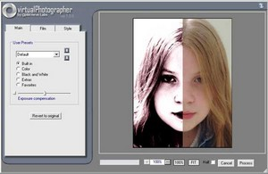 virtualphotographer2 small Virtual Photographer   free Photoshop plugin filter adds interest to your images