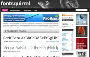 fontsquirrel small Font Squirrel   gorgeous free fonts for your websites and commercial work