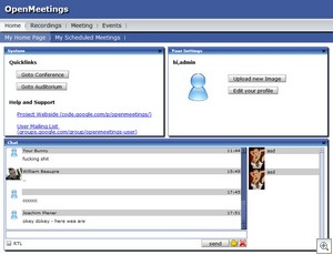 openmeetings2 thumb Open Meetings   open source conferencing software