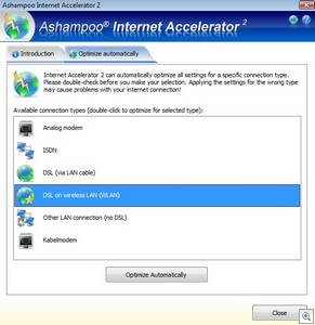 ashampoointernetaccelerator thumb Ashampoo Internet Accelerator 2   freeware gives you a rocket fast Internet connection